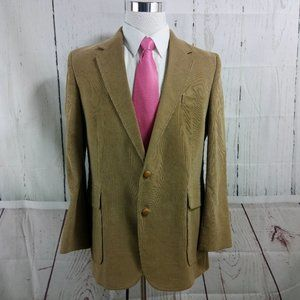 Haggar 41R 2 Button Desert Tan Corduroy Suit Blaze